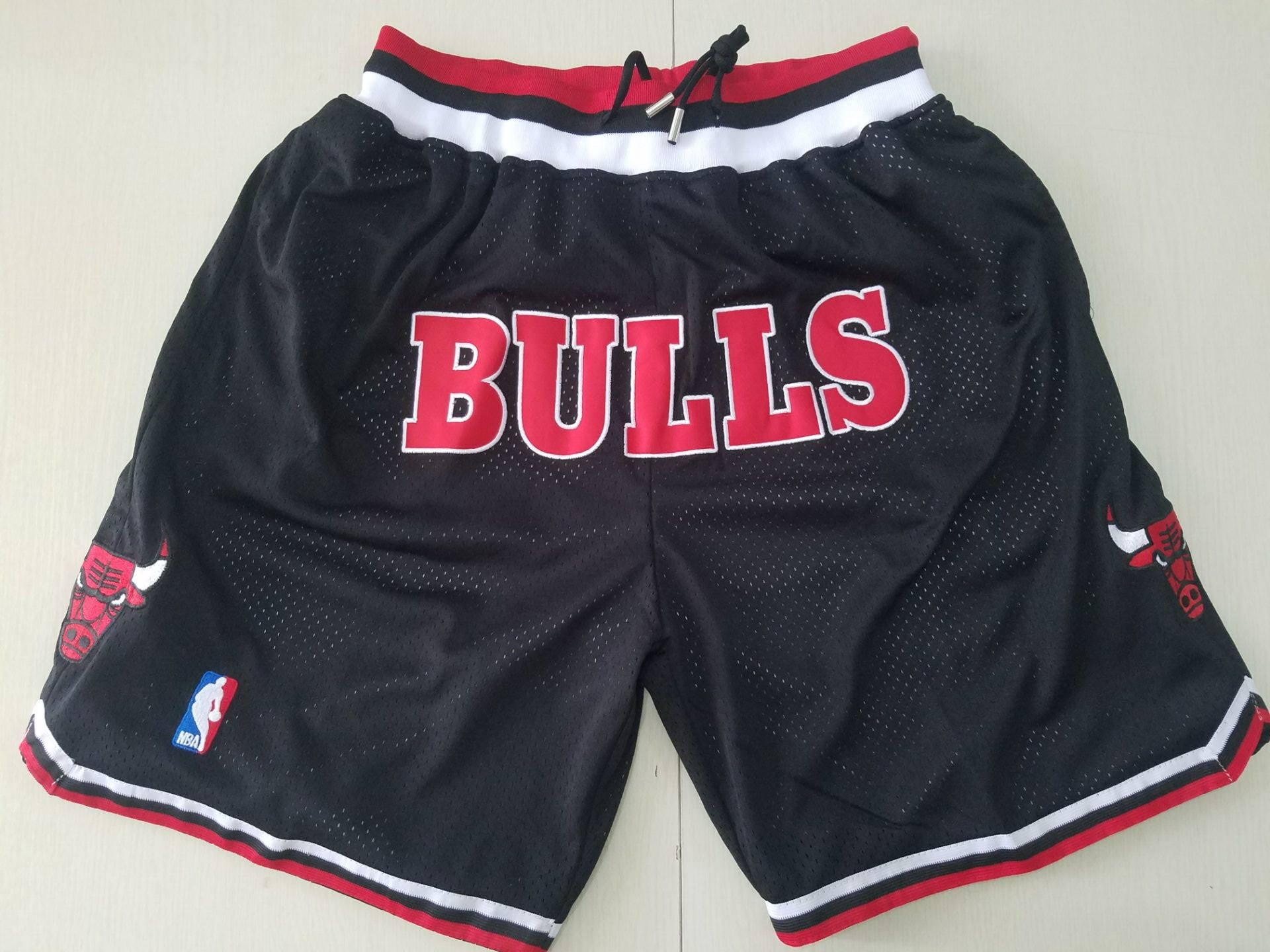 Bulls Black 1997-98 All Stitched Shorts