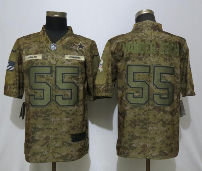 Nike Cowboys 55 Leighton Vader Esch Camo Salute To Service Limited Jersey