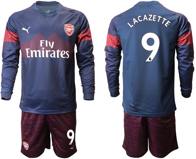 2018-19 Arsenal 9 LACAZETTE Away Long Sleeve Soccer Jersey