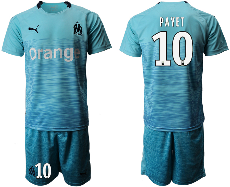 2018-19 Marseille 10 PAYET Away Soccer Jersey