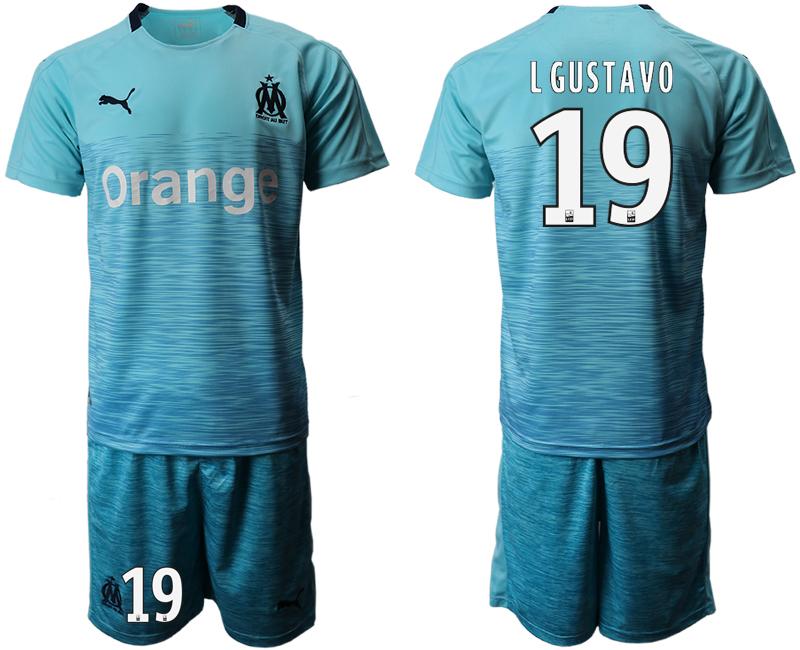 2018-19 Marseille 19 L GUSTAVO Away Soccer Jersey