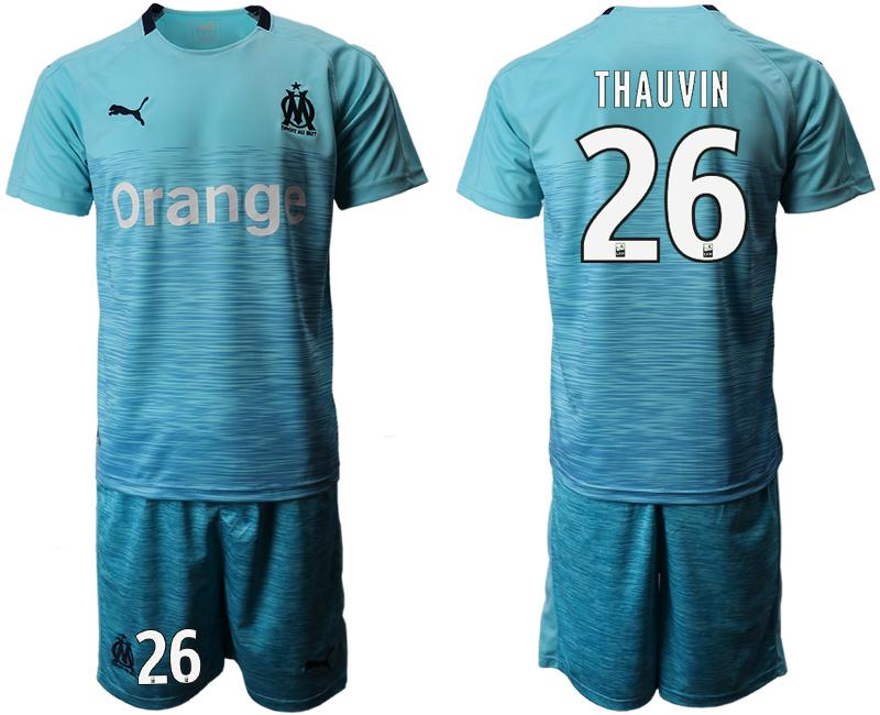 2018-19 Marseille 26 THAUVIN Away Soccer Jersey