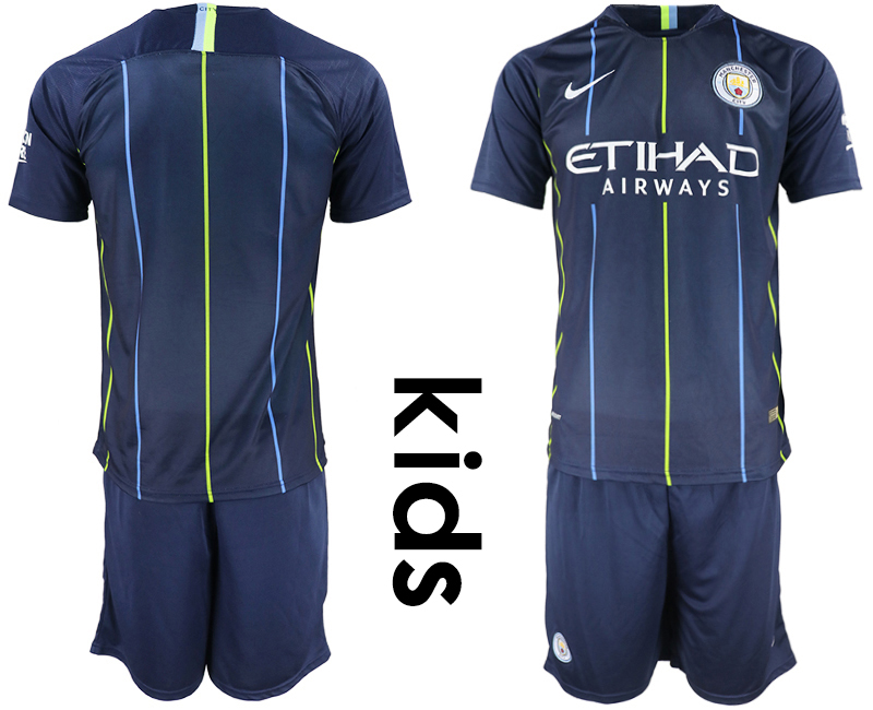 2018-19 Manchester City Away Youth Soccer Jersey