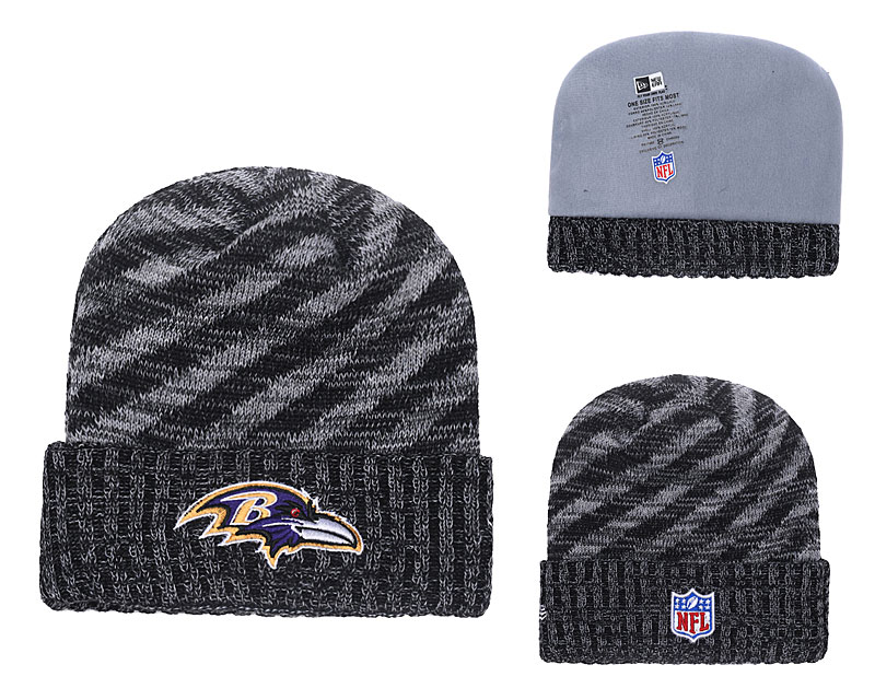 Ravens Black 2018 NFL Sideline Cold Weather Cuffed Knit Hat YD