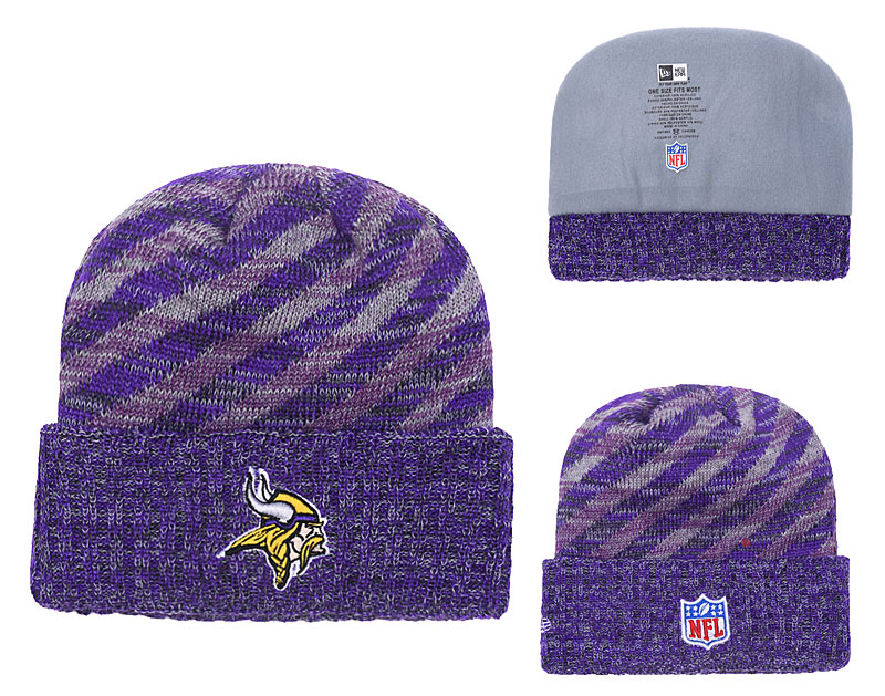 Vikings Purple 2018 NFL Sideline Cold Weather Cuffed Knit Hat YD