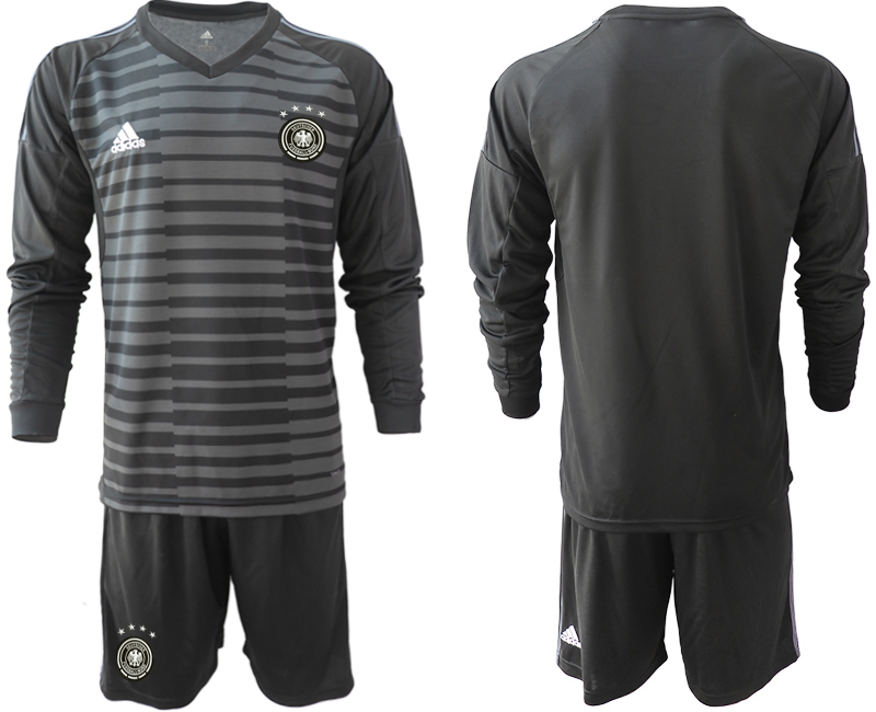 2018-19 Germany Black Long Sleeve Goalkeeper Soccer Jersey