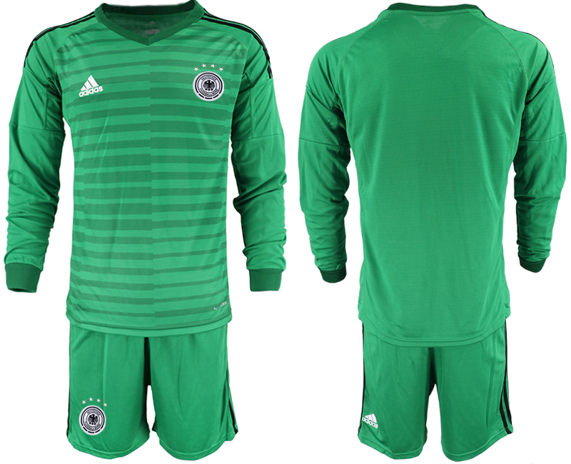 2018-19 Germany Green Long Sleeve Goalkeeper Soccer Jersey