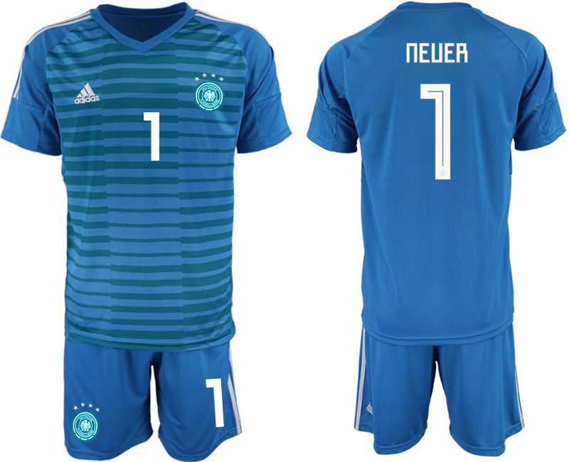 2018-19 Germany 1 NEUER Blue Goalkeeper Soccer Jersey