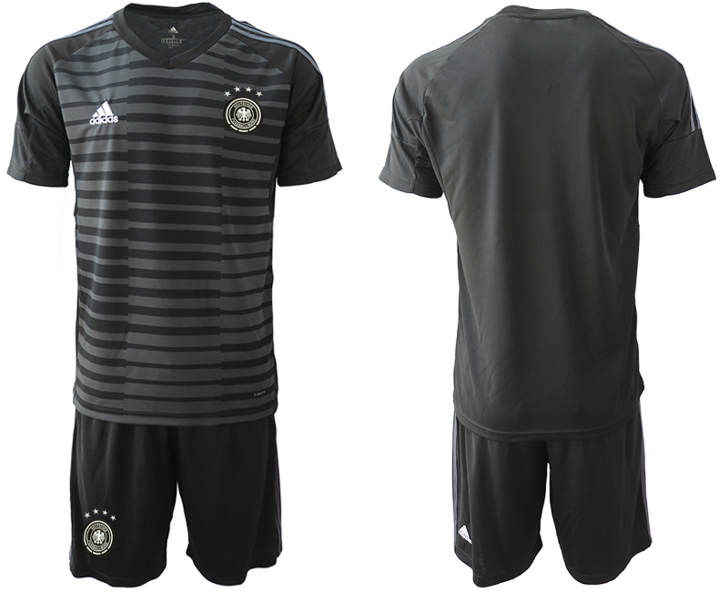 2018-19 Germany Black Goalkeeper Soccer Jersey