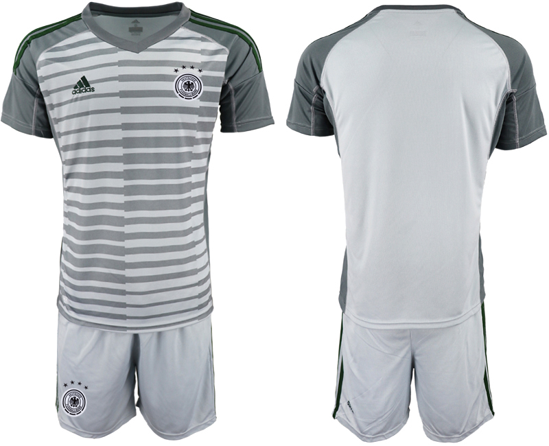 2018-19 Germany Gray Goalkeeper Soccer Jersey