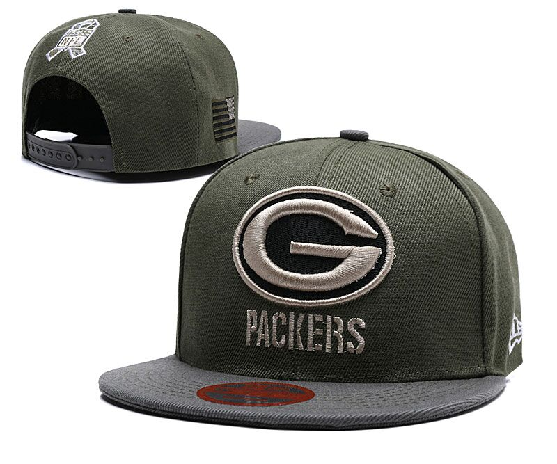 Packers Olive Salute To Service Adjustable Hat LT