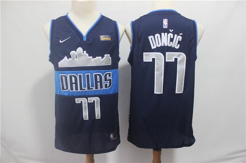 Mavericks 71 Luka Doncic Navy Nike Swingman Jersey