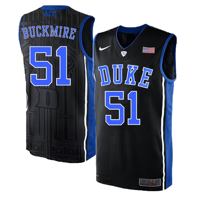 Duke Blue Devils 51 Mike Buckmire Black Elite Nike College Basketball Jersey
