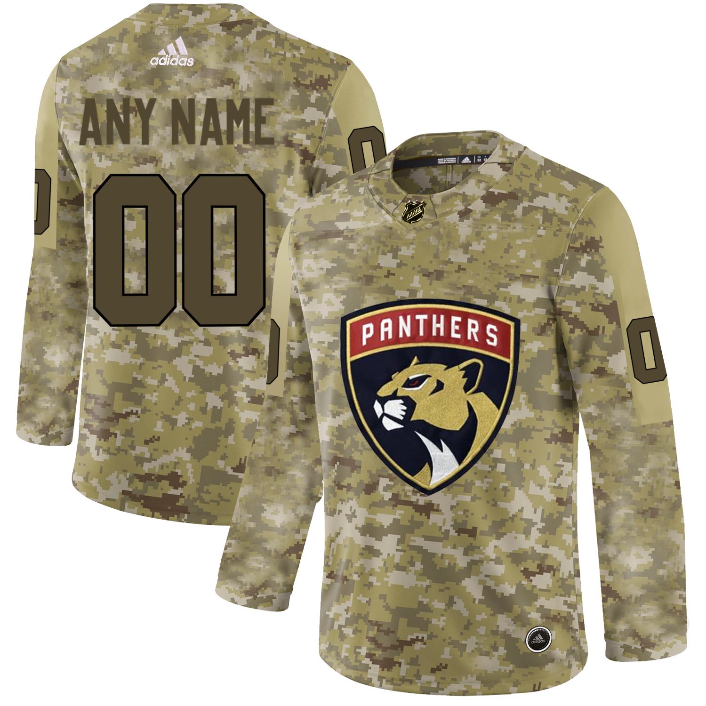 Florida Panthers Camo Men's Customized Adidas Jersey
