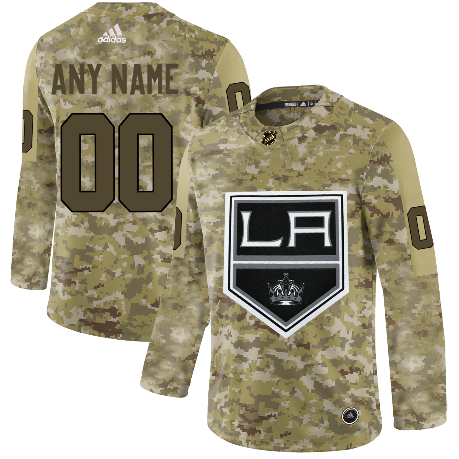 Los Angeles Kings Camo Men's Customized Adidas Jersey