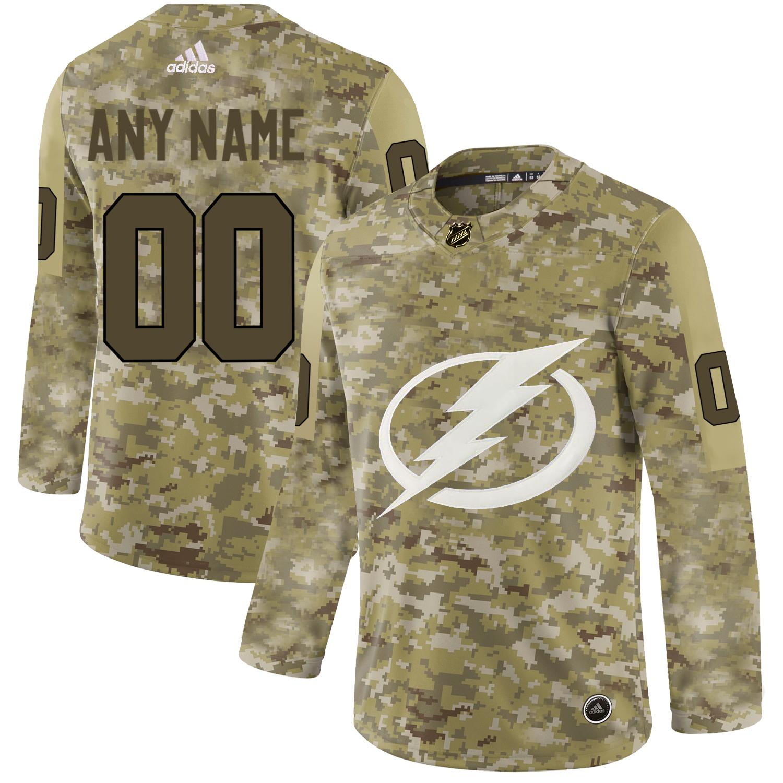 Tampa Bay Lightning Camo Men's Customized Adidas Jersey
