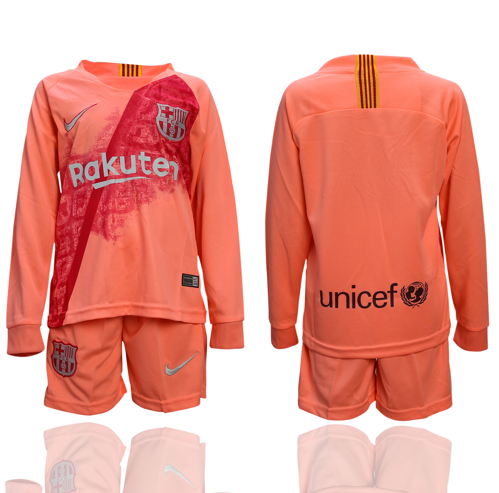 2018-19 Barcelona Third Away Youth Long Sleeve Soccer Jersey