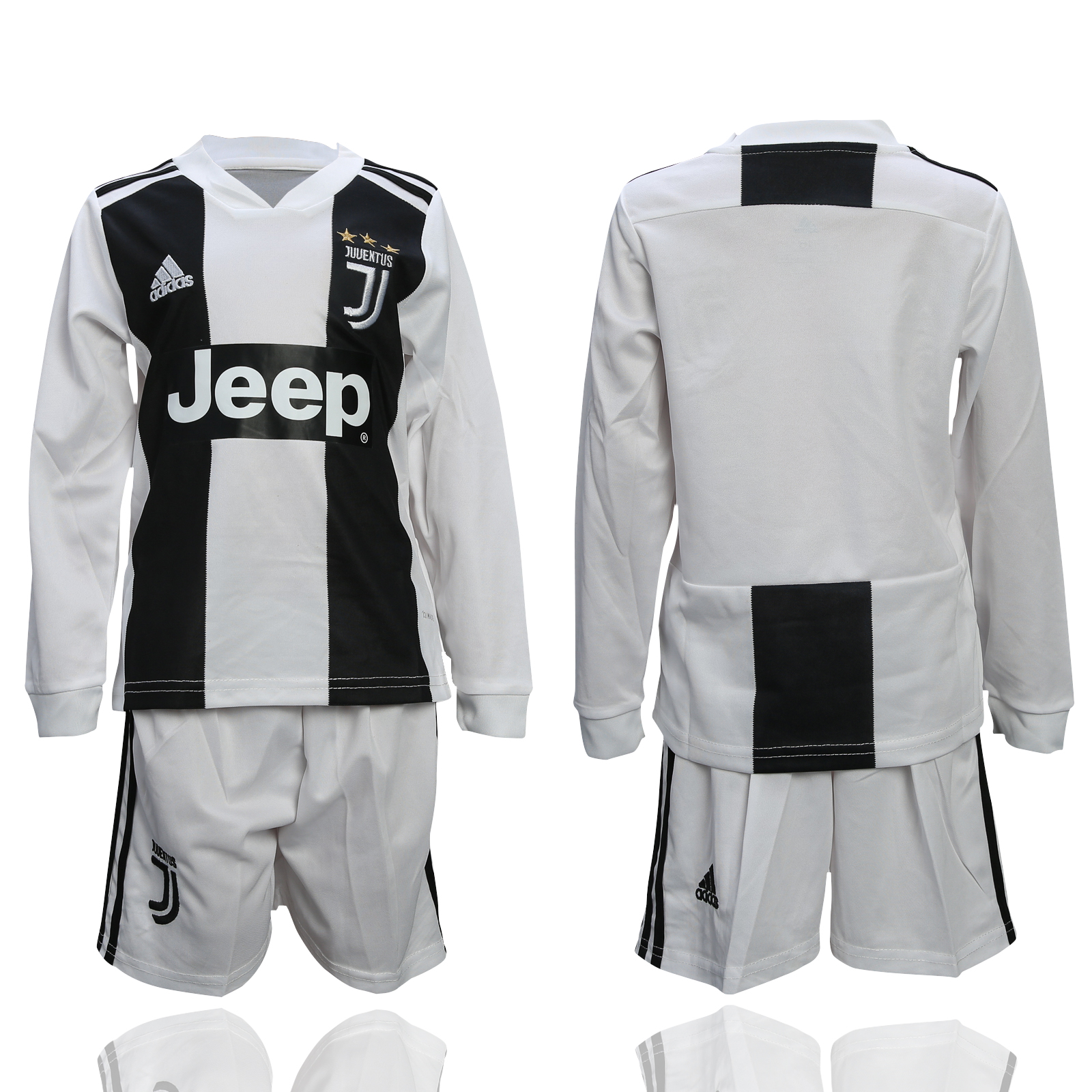 2018-19 Juventus Home Youth Long Sleeve Soccer Jersey