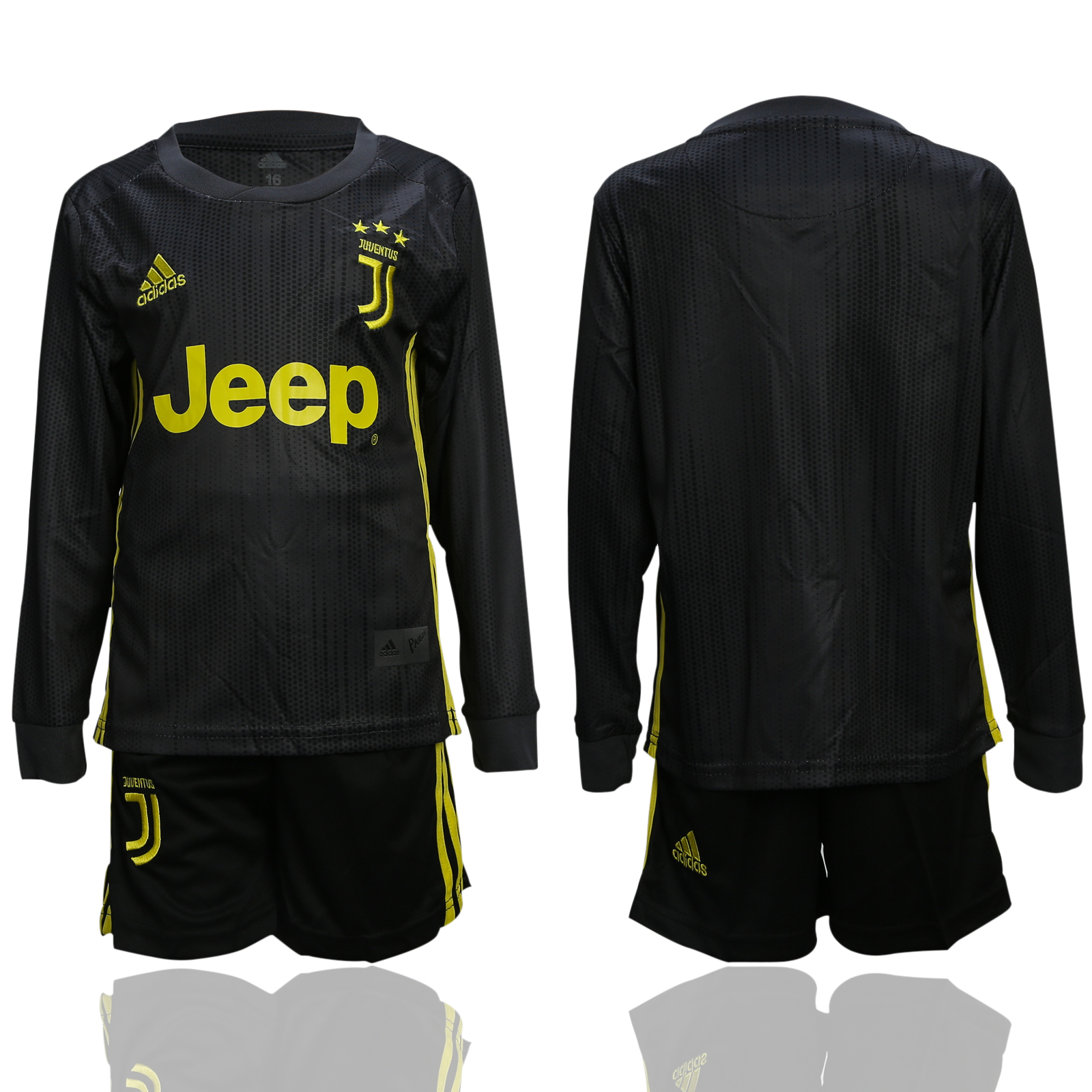 2018-19 Juventus Third Away Youth Long Sleeve Soccer Jersey