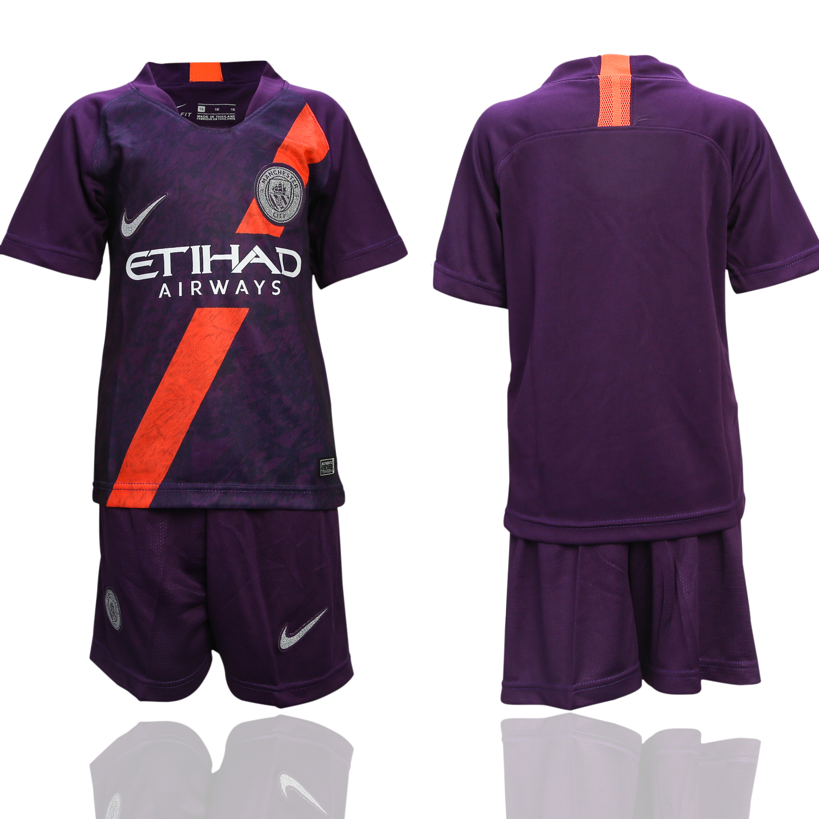 2018-19 Manchester City Third Away Youth Soccer Jersey