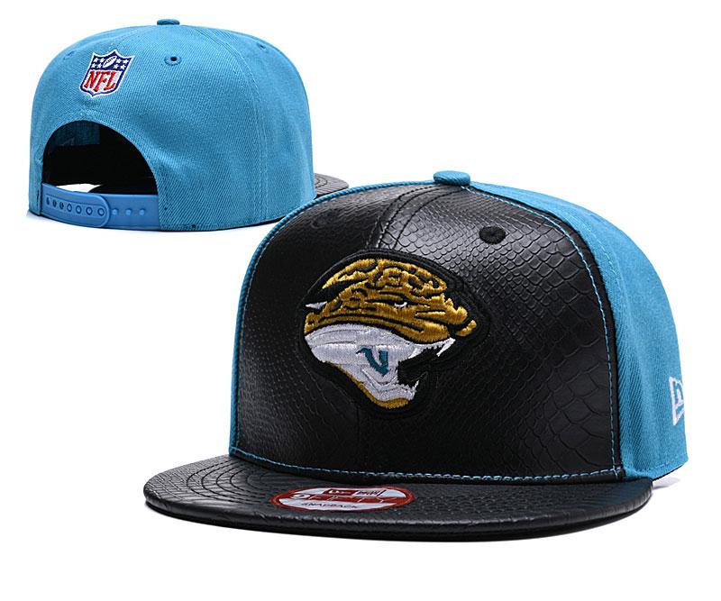 Jaguars Fresh Logo Black Teal Adjustable Hat TX
