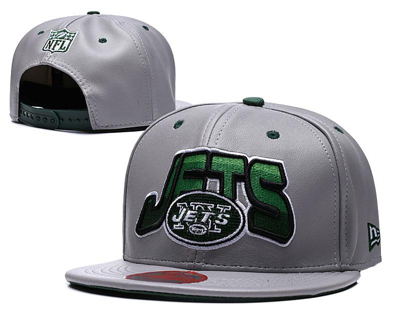 Jets Retro Gray Adjustable Hat TX