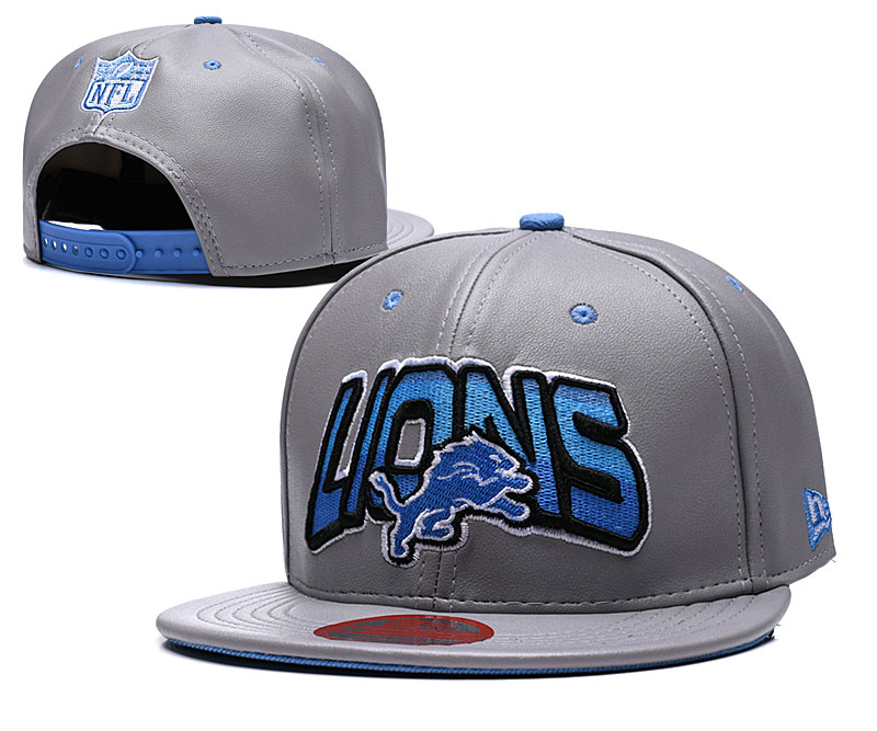Lions Retro Gray Adjustable Hat TX