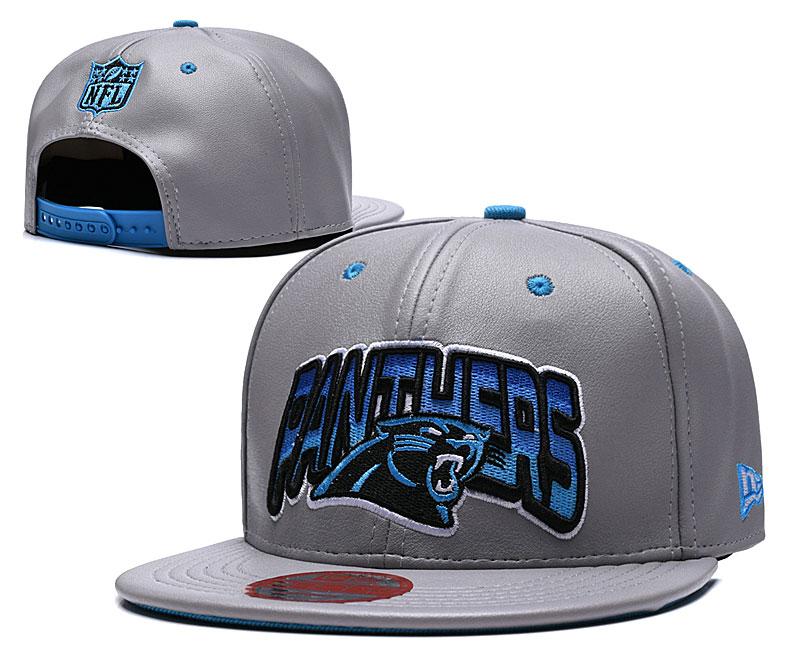 Panthers Retro Gray Adjustable Hat TX