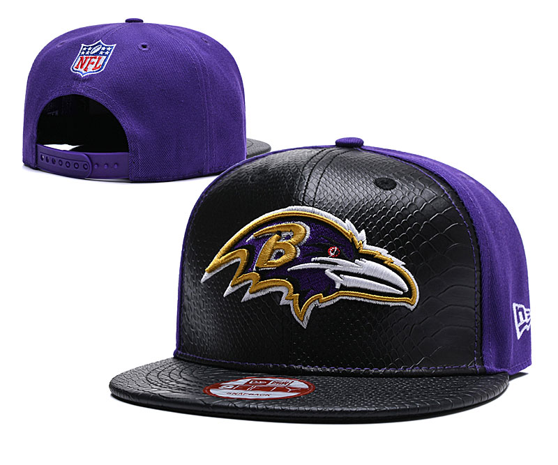 Ravens Fresh Logo Black Purple Adjustable Hat TX