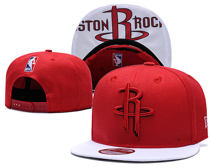 Rockets Fresh Logo Red Adjustable Hat TX
