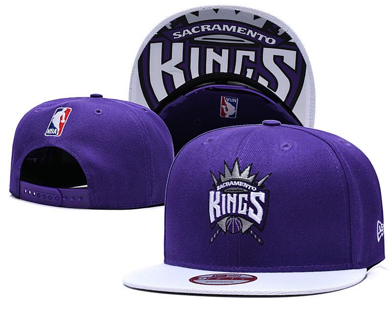 Sacramento Kings Fresh Logo Purple Adjustable Hat TX