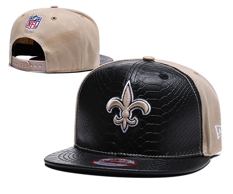 Saints Fresh Logo Black Gold Adjustable Hat TX