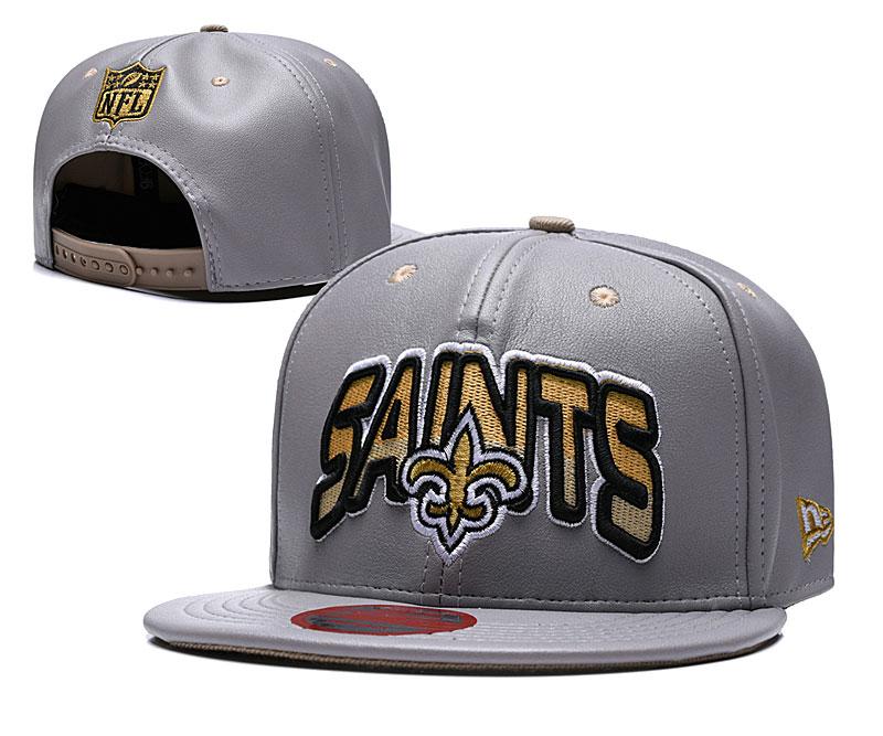 Saints Retro Gray Adjustable Hat TX