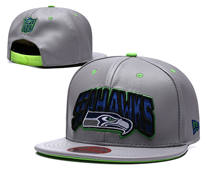 Seahawks Retro Gray Adjustable Hat TX