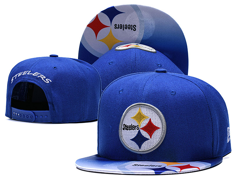 Steelers Fresh Logo Royal Adjustable Hat TX