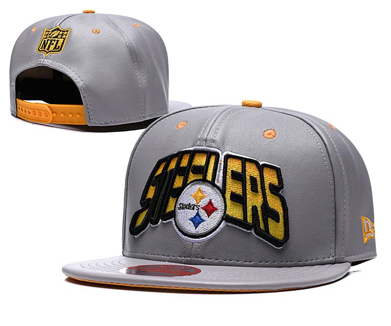 Steelers Retro Gray Adjustable Hat TX