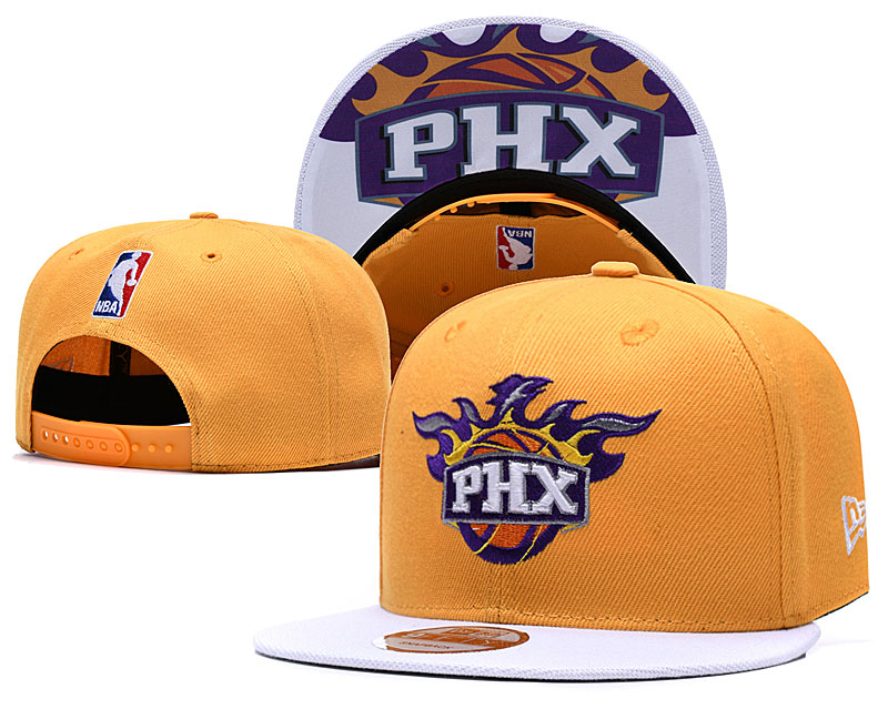 Suns Fresh Logo Gold Adjustable Hat TX