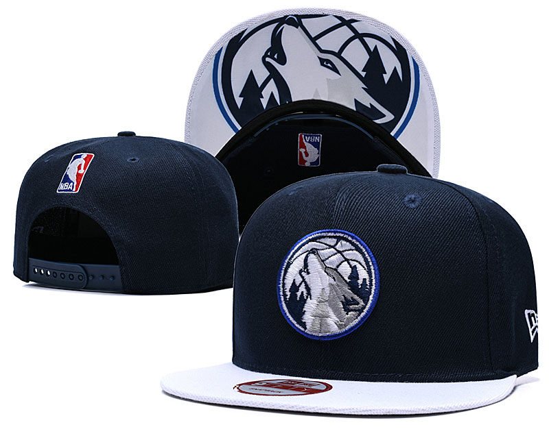 Timberwolves Fresh Logo Navy Adjustable Hat TX