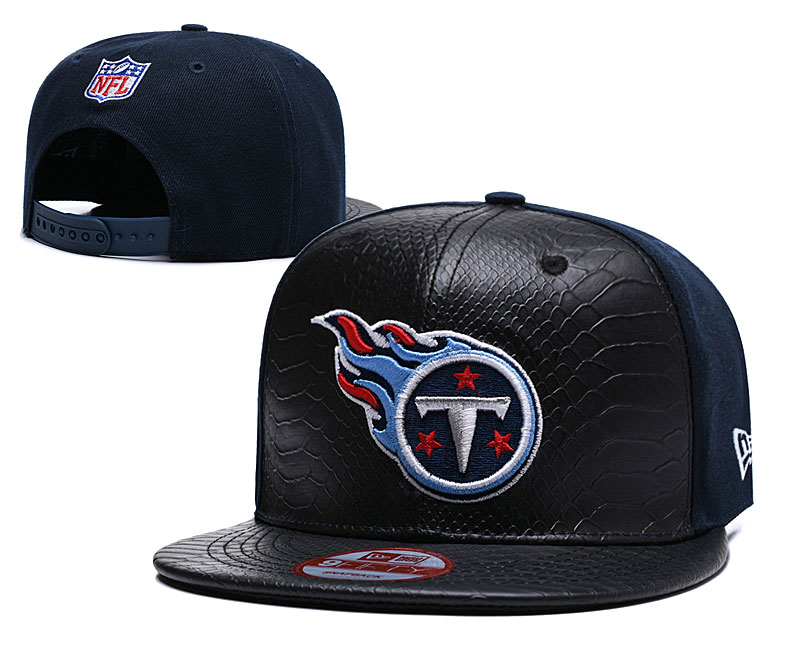 Titans Fresh Logo Black Adjustable Hat TX