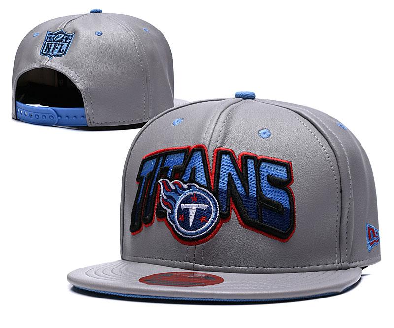 Titans Retro Gray Adjustable Hat TX