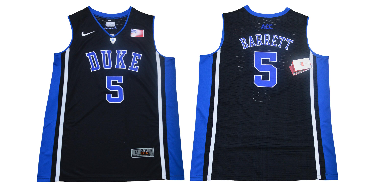 Duke Blue Devils 5 RJ Barrett Black Elite Nike College Basketball Jersey