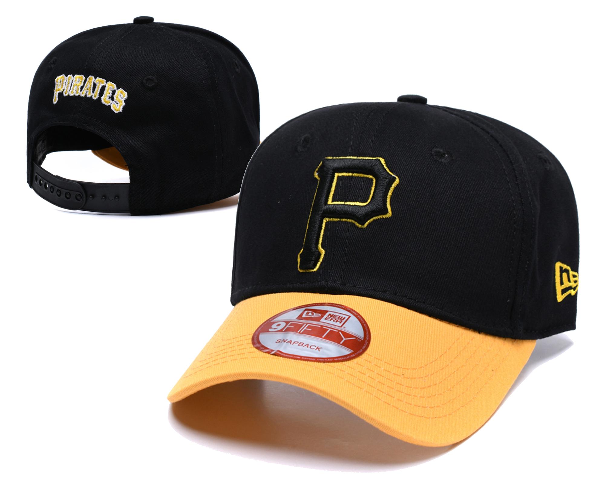 Pirates Fresh Logo Black Peaked Adjustable Hat TX