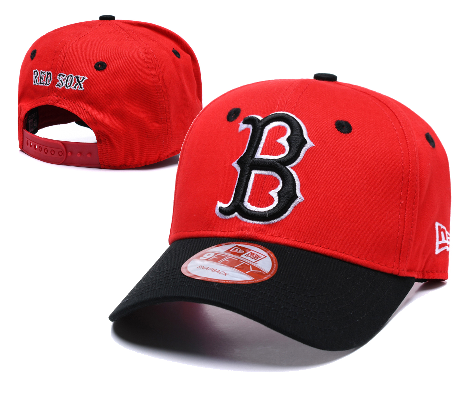Red Sox Fresh Logo Red Peaked Adjustable Hat TX