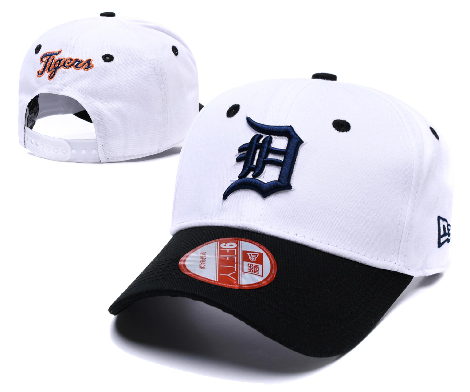 Tigers Fresh Logo White Peaked Adjustable Hat TX