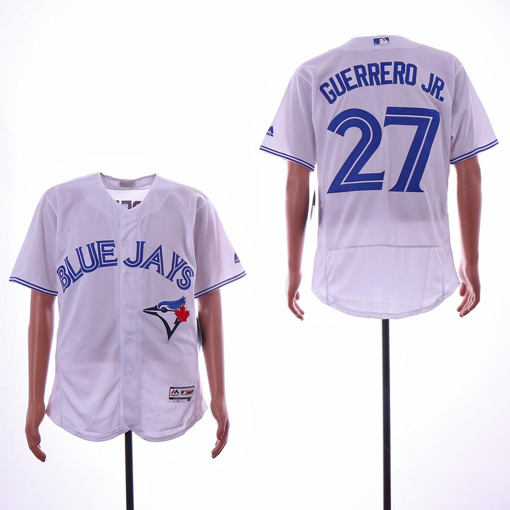Blue Jays 27 Vladimir Guerrero Jr. White Flexbase Jersey