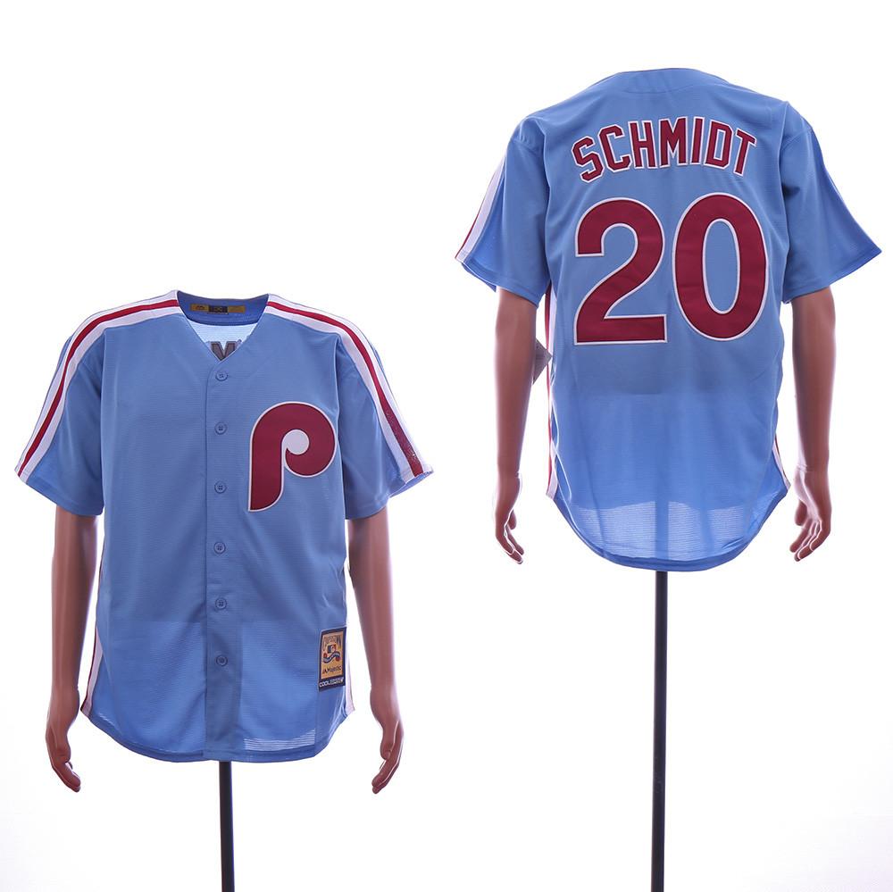 Phillies 20 Mike Schmidt Light Blue Alternate Cooperstown Collection Jersey