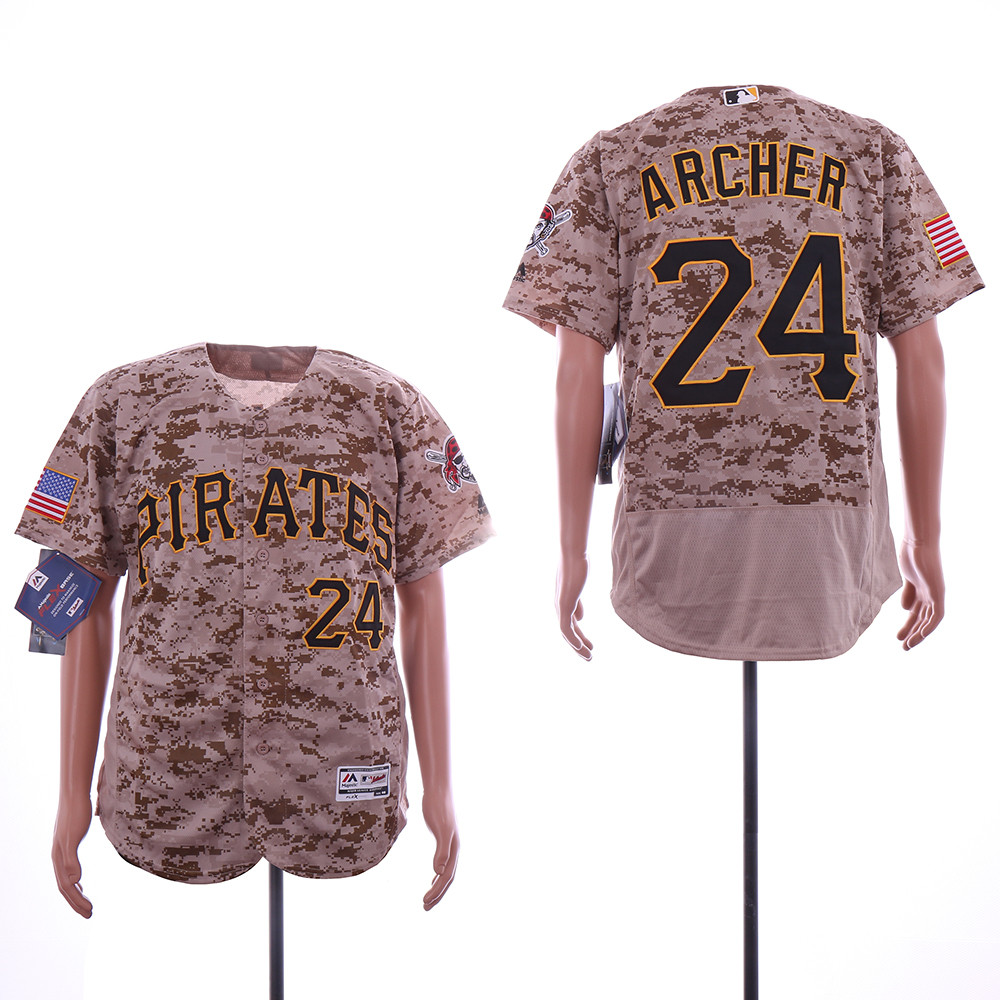 Pirates 24 Chris Archer Camo Flexbase Jersey