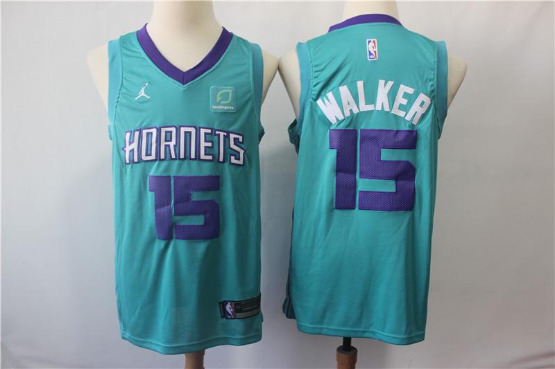 Hornets 15 Kemba Walker Teal Jordan Brand Swingman Jersey
