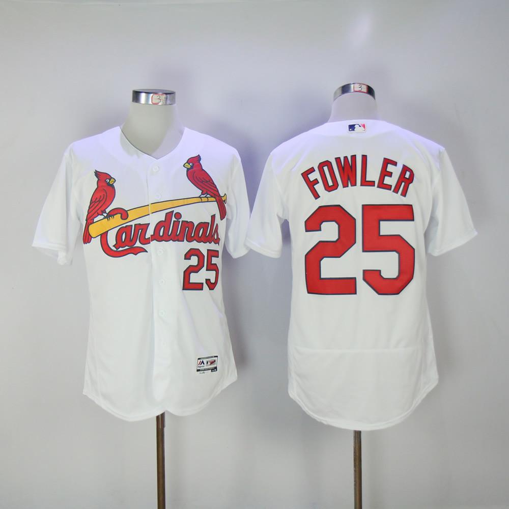 Cardinals 25 Dexter Fowler White Flexbase Jersey