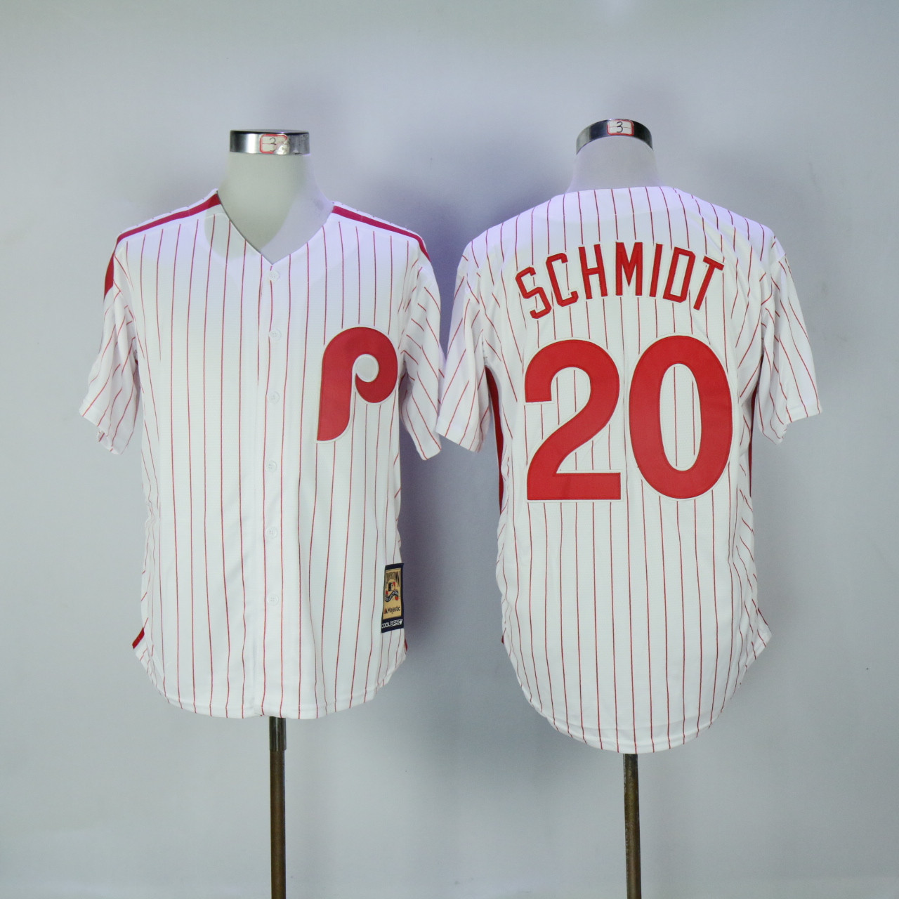 Phillies 20 Mike Schmidt White Cooperstown Collection Cool Base Jersey